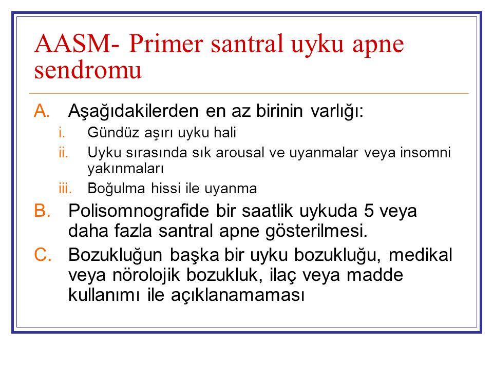 AASM- Primer santral uyku apne sendromu