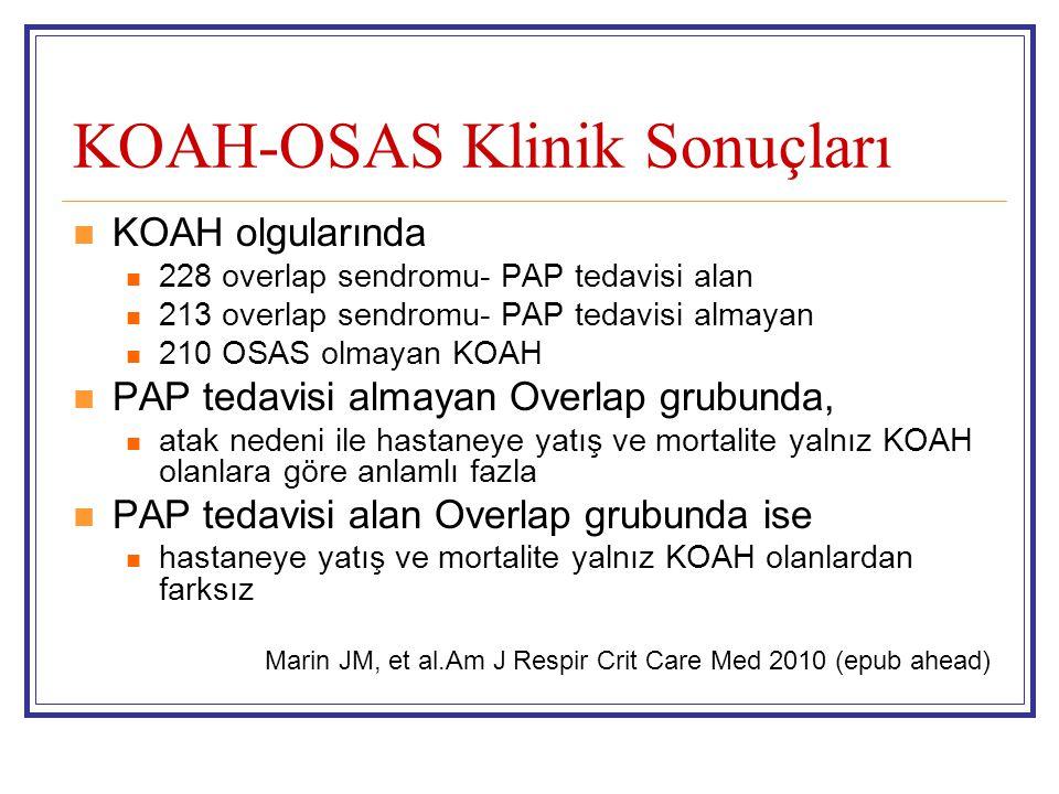 KOAH-OSAS Klinik Sonuçları
