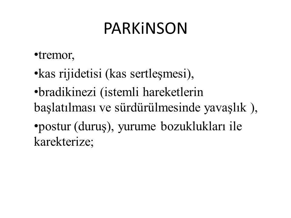 PARKiNSON tremor, kas rijidetisi (kas sertleşmesi),