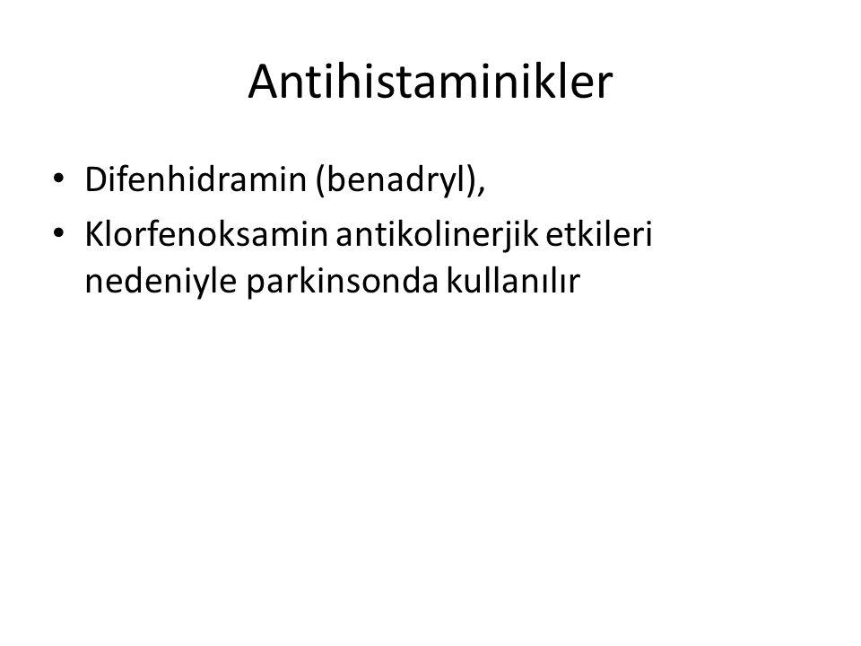Antihistaminikler Difenhidramin (benadryl),