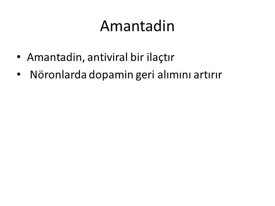 Amantadin Amantadin, antiviral bir ilaçtır