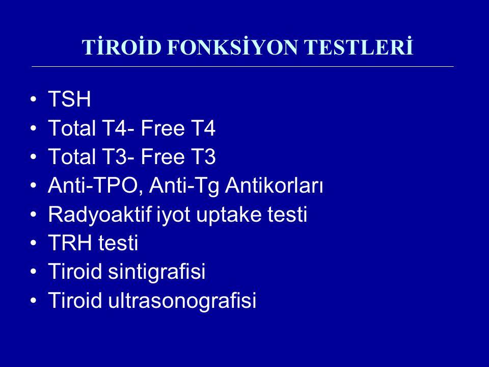 TİROİD FONKSİYON TESTLERİ