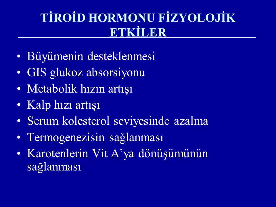 TİROİD HORMONU FİZYOLOJİK ETKİLER