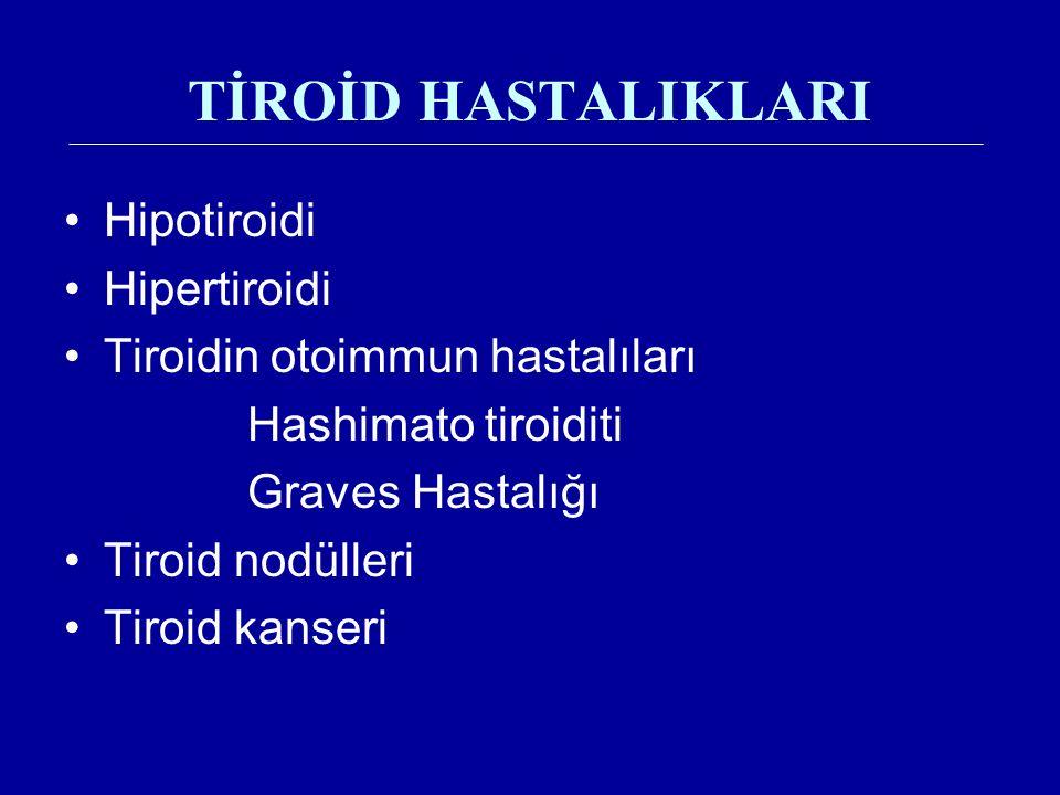 TİROİD HASTALIKLARI Hipotiroidi Hipertiroidi