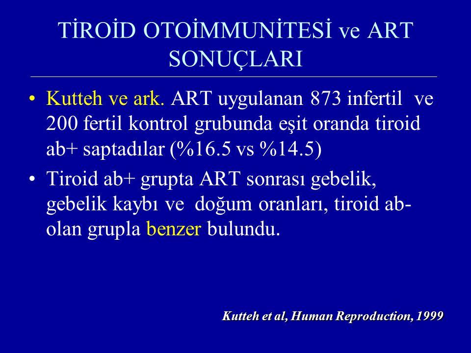 TİROİD OTOİMMUNİTESİ ve ART SONUÇLARI