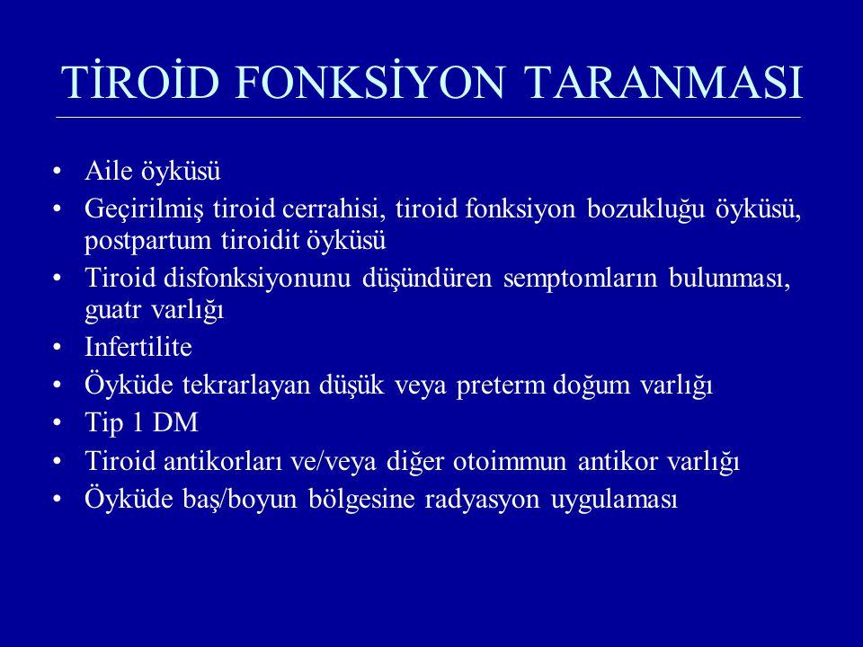 TİROİD FONKSİYON TARANMASI