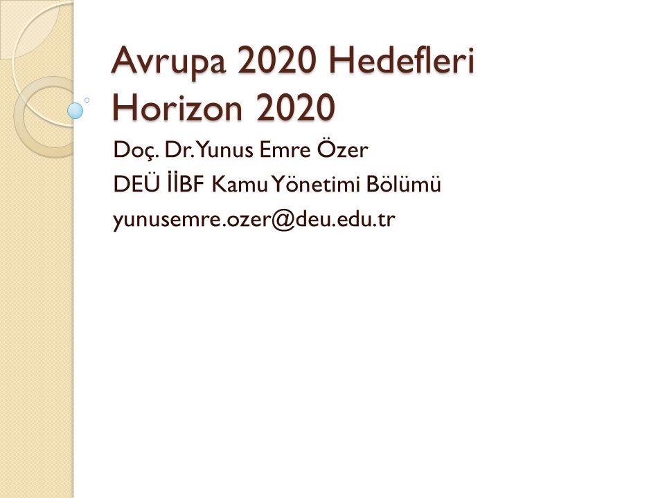 Avrupa 2020 Hedefleri Horizon 2020