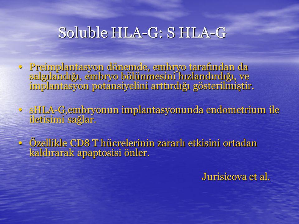 Soluble HLA-G: S HLA-G
