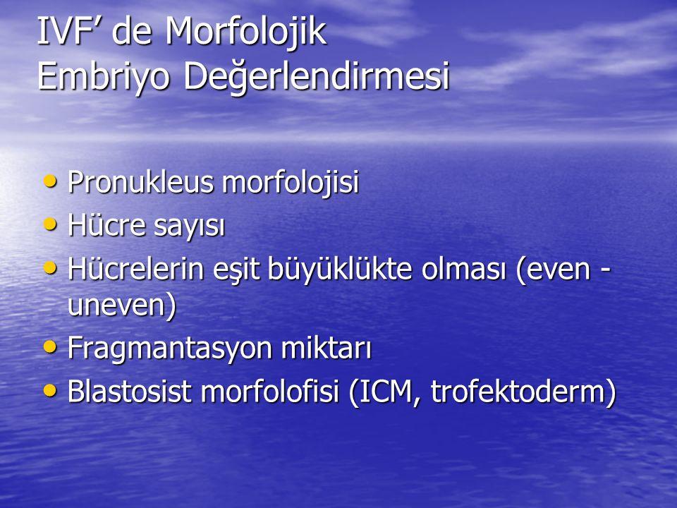 IVF' de Morfolojik Embriyo Değerlendirmesi