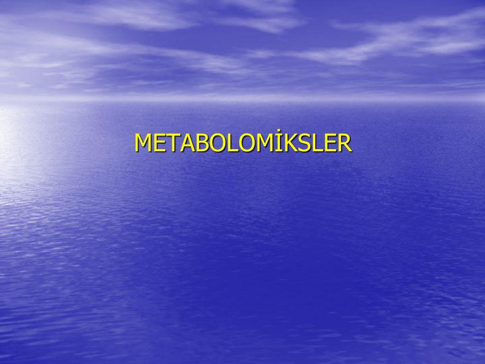 METABOLOMİKSLER