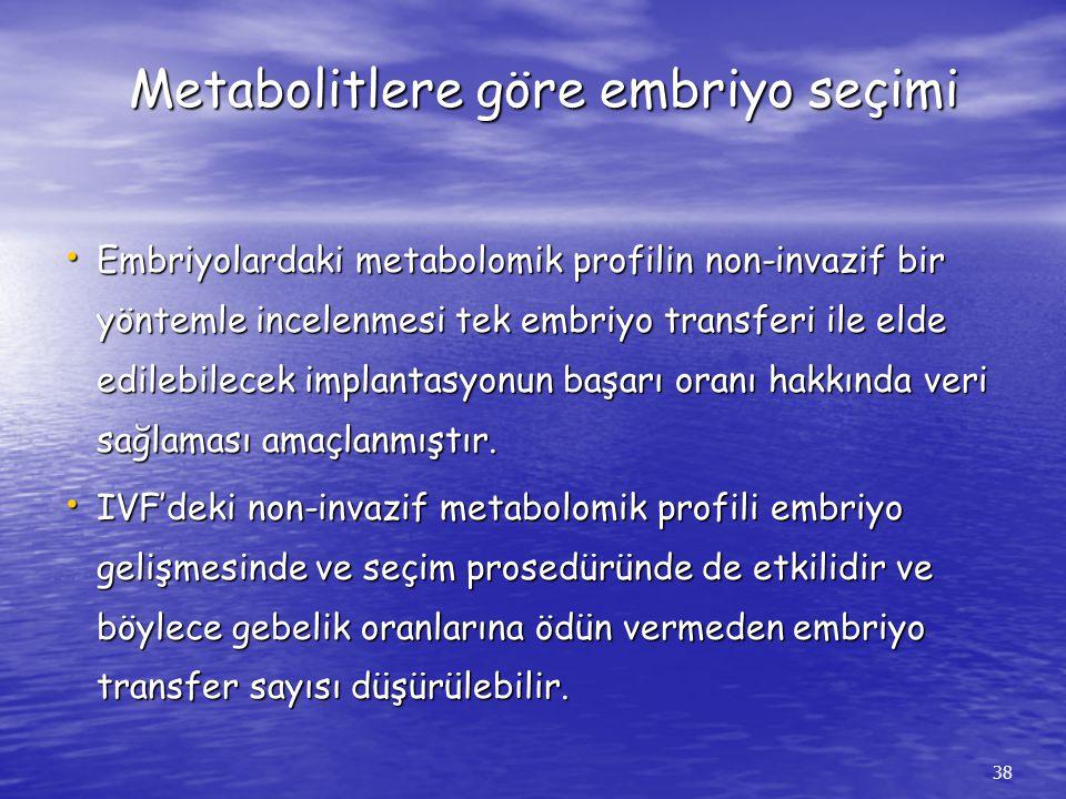 Metabolitlere göre embriyo seçimi