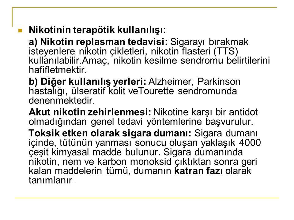 Nikotinin terapötik kullanılışı: