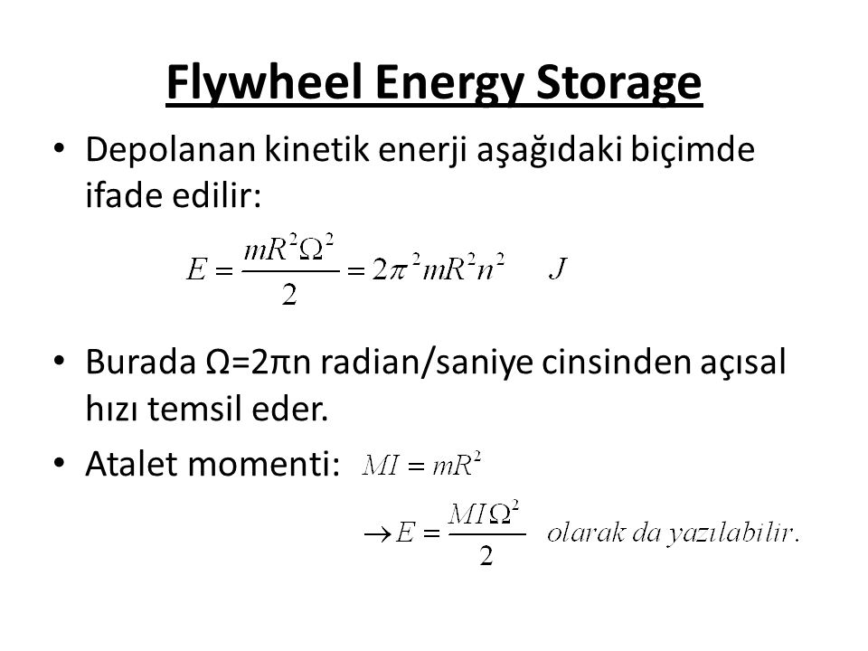 Flywheel Energy Storage