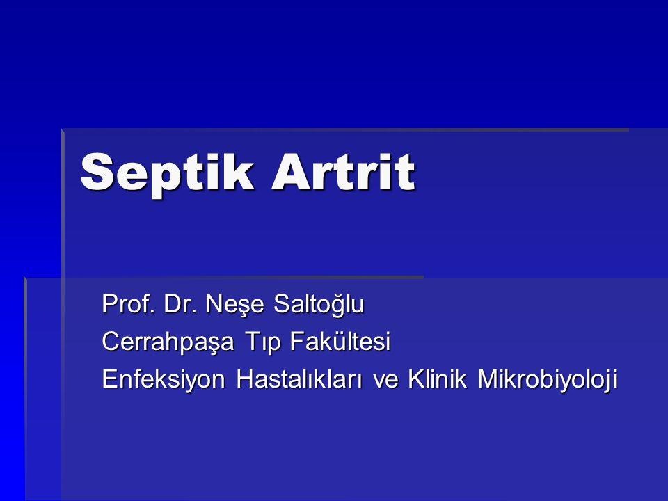 Septik Artrit Prof. Dr. Neşe Saltoğlu Cerrahpaşa Tıp Fakültesi