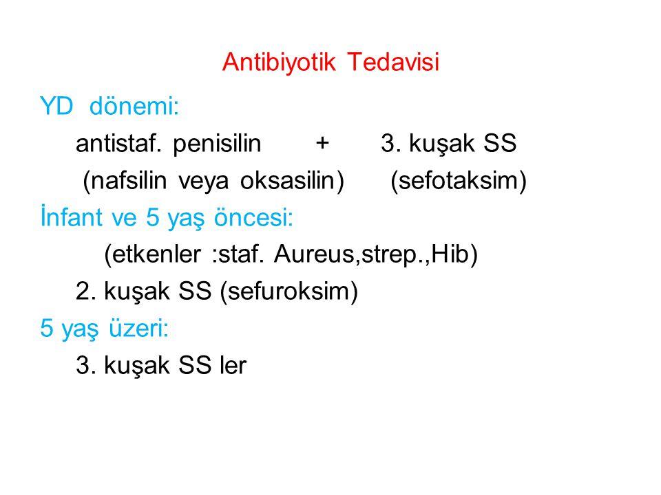antistaf. penisilin + 3. kuşak SS