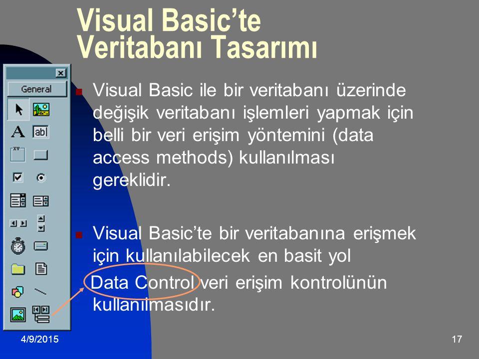 Visual Basic'te Veritabanı Tasarımı