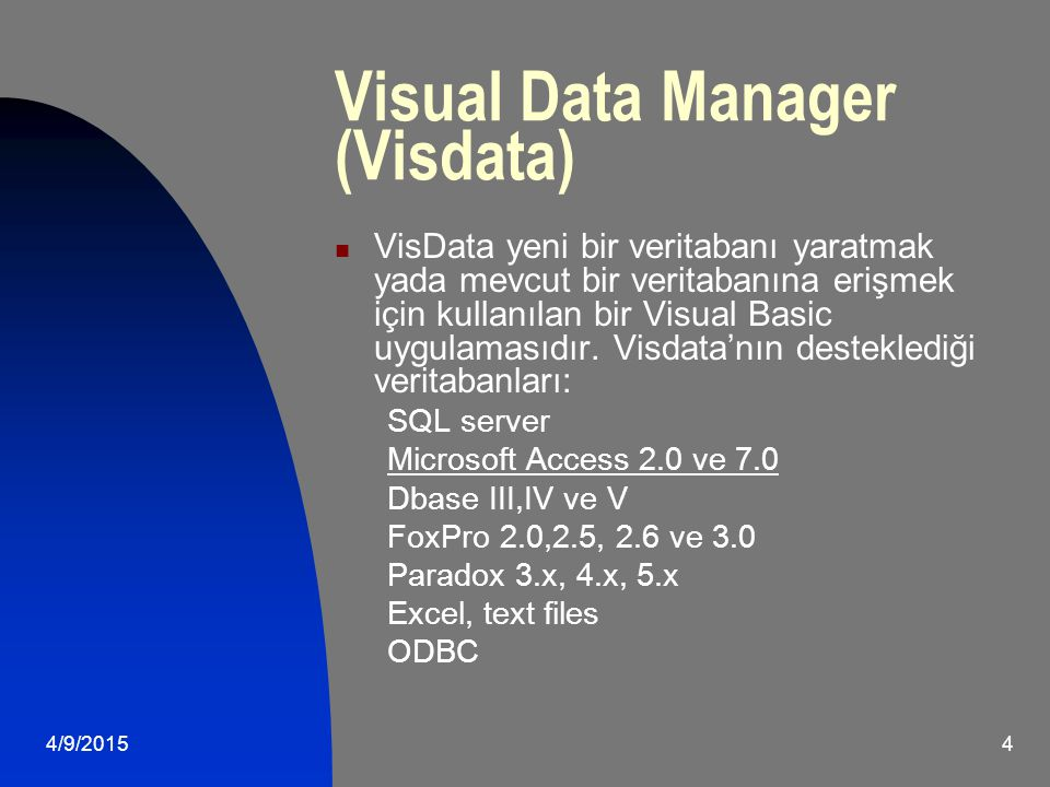 Visual Data Manager (Visdata)