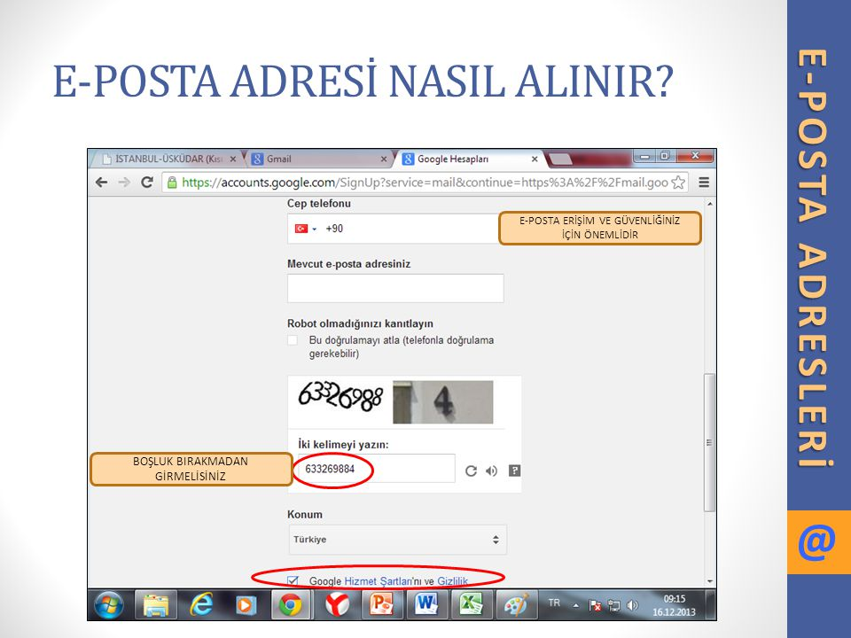 E-POSTA ADRESİ NASIL ALINIR