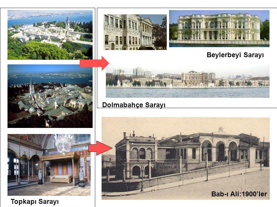 Beylerbeyi Sarayı Dolmabahçe Sarayı Kuleli Askeri Lisesi- Bab-ı Ali:1900'ler Topkapı Sarayı
