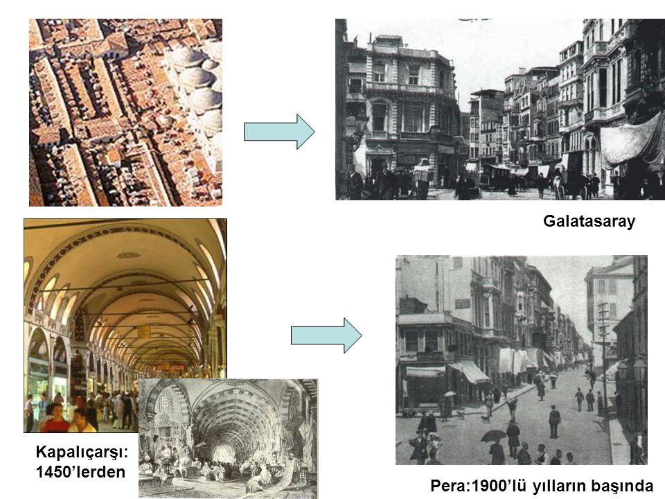Galatasaray Kapalıçarşı: 1450'lerden Pera:1900'lü yılların başında