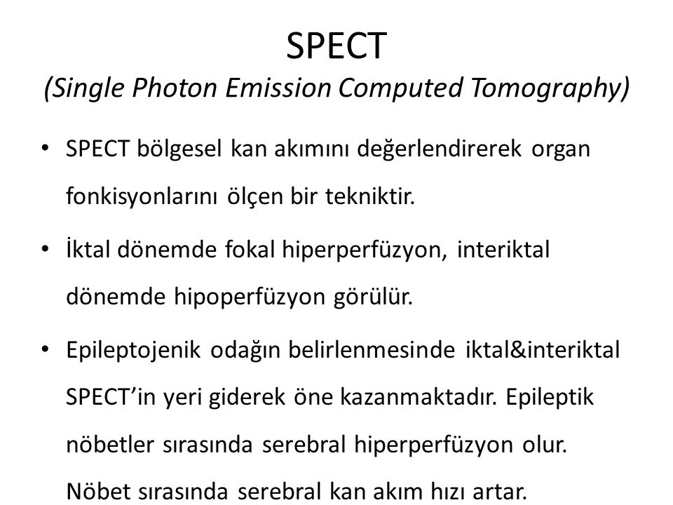 SPECT (Single Photon Emission Computed Tomography)