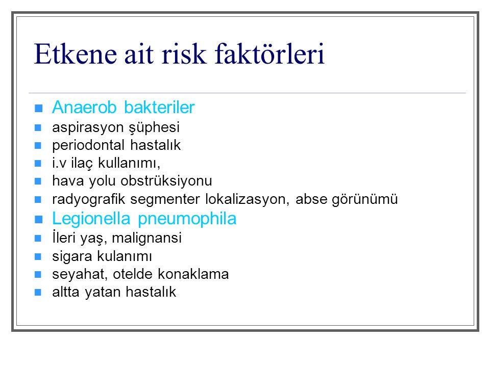 Etkene ait risk faktörleri