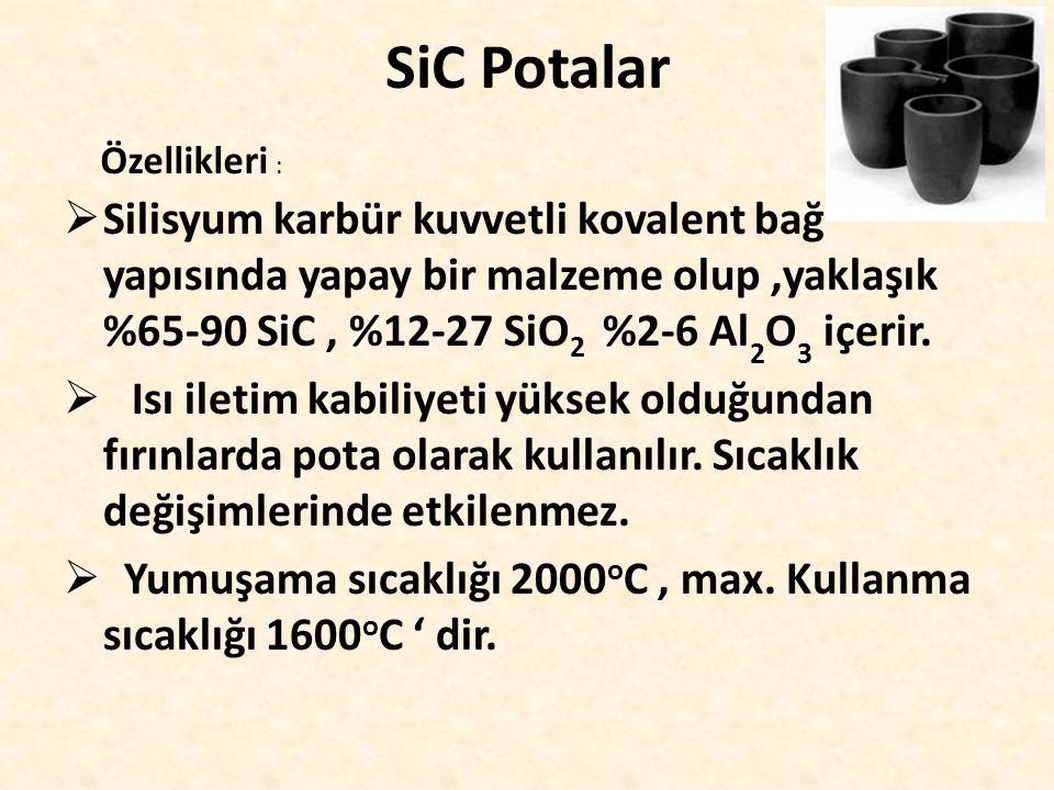 SiC Potalar Özellikleri :