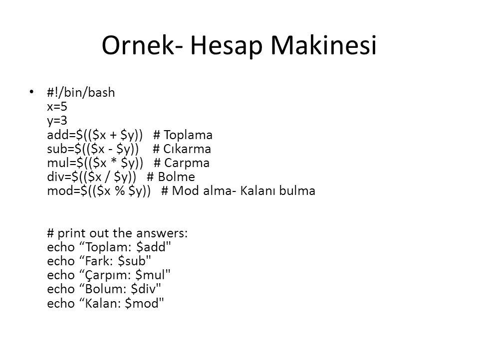 Ornek- Hesap Makinesi