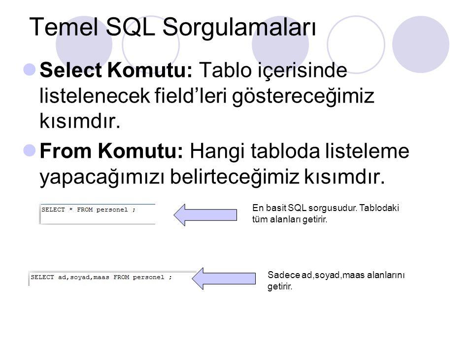 Temel SQL Sorgulamaları