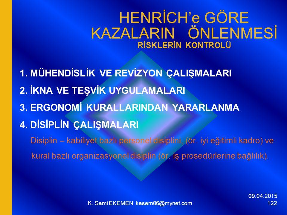 HENRİCH'e GÖRE KAZALARIN ÖNLENMESİ RİSKLERİN KONTROLÜ