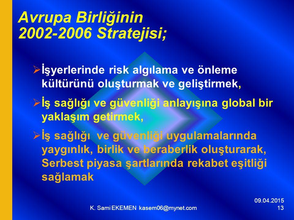 Avrupa Birliğinin 2002-2006 Stratejisi;