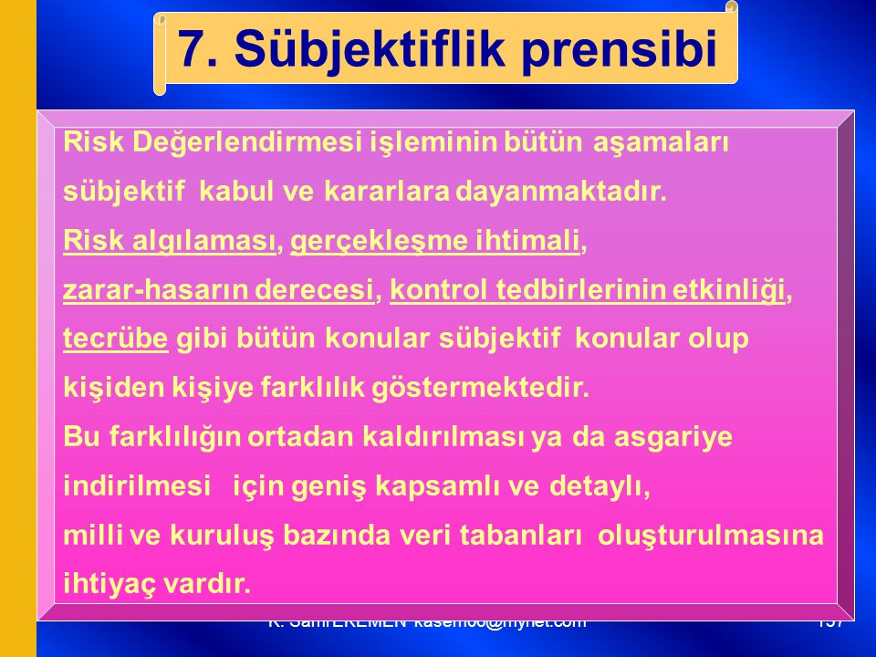 7. Sübjektiflik prensibi