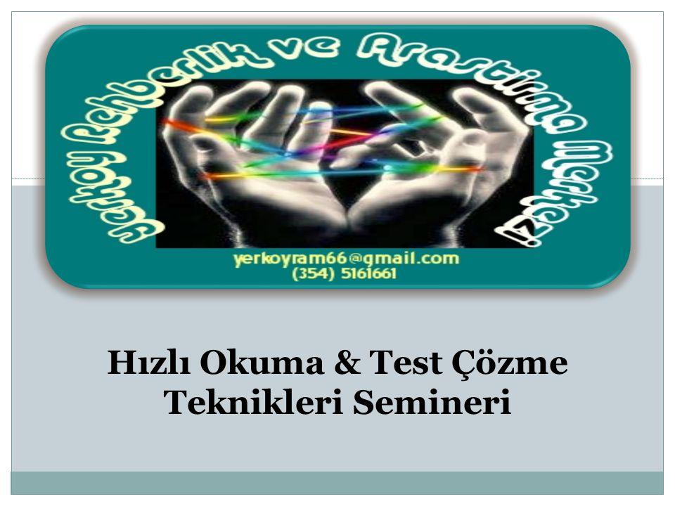 Hızlı Okuma & Test Çözme Teknikleri Semineri