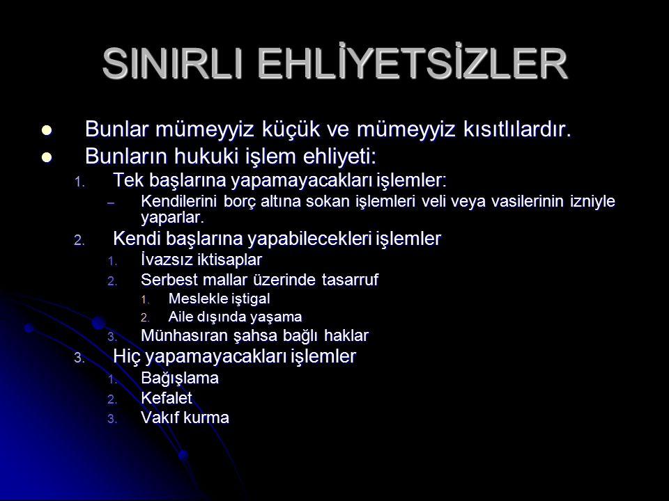 SINIRLI EHLİYETSİZLER