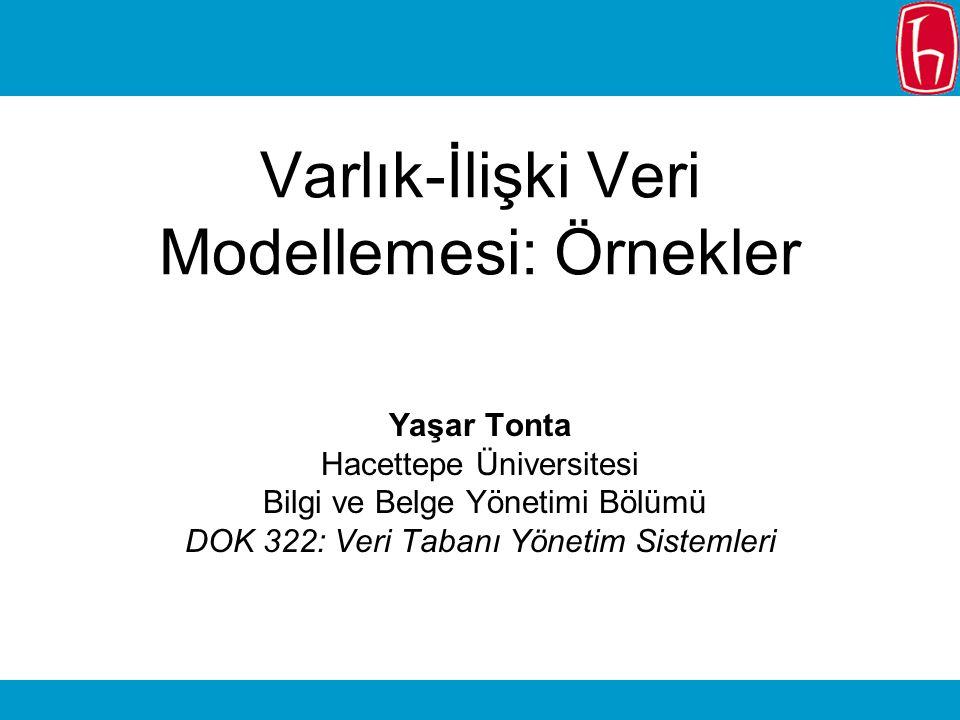Varlık-İlişki Veri Modellemesi: Örnekler