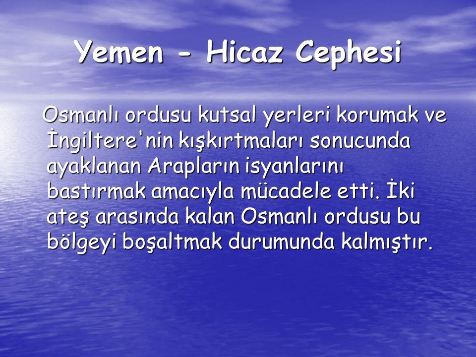 Yemen - Hicaz Cephesi