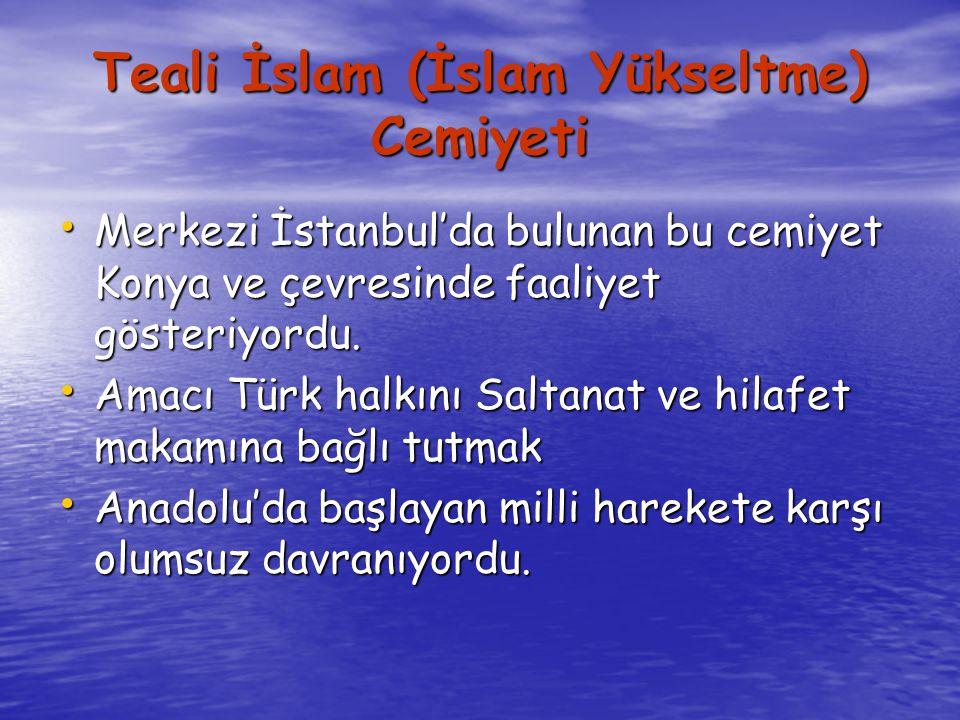 Teali İslam (İslam Yükseltme) Cemiyeti