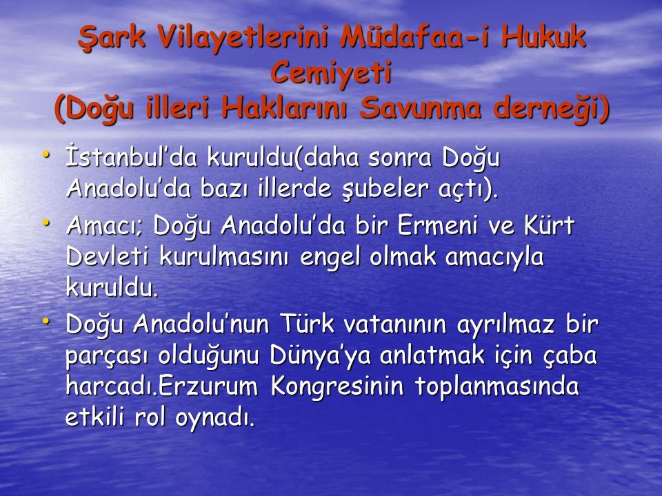 Şark Vilayetlerini Müdafaa-i Hukuk Cemiyeti (Doğu illeri Haklarını Savunma derneği)
