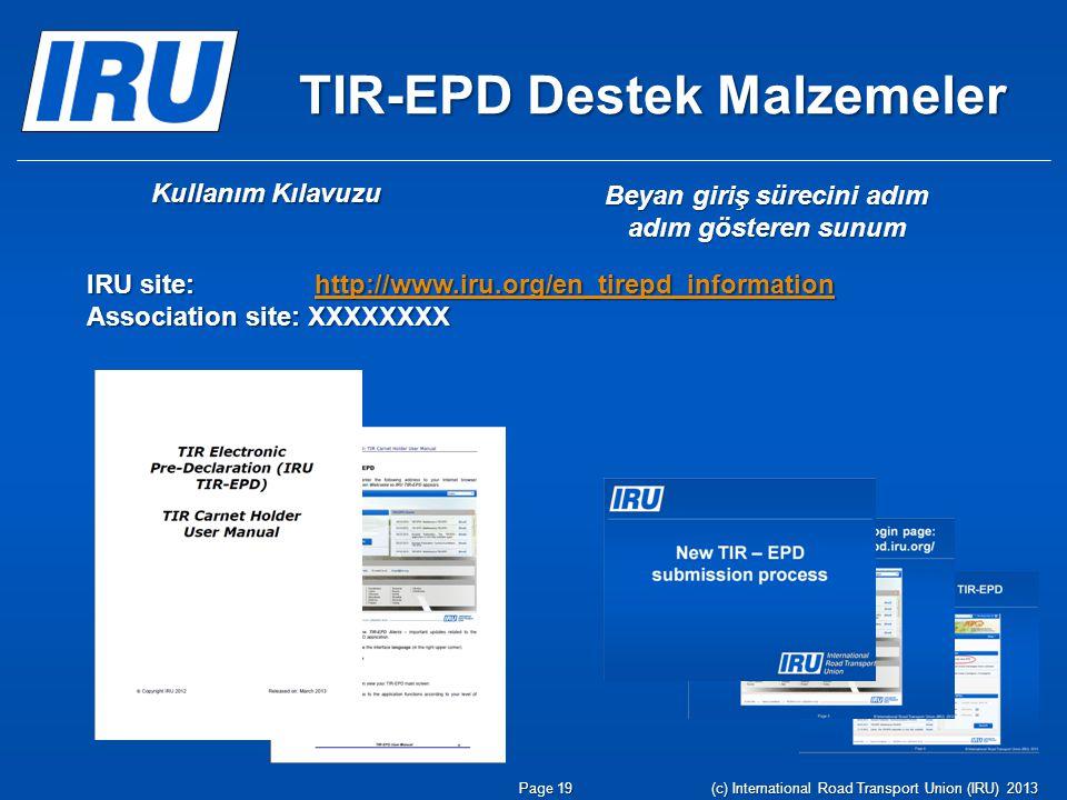 TIR-EPD Destek Malzemeler