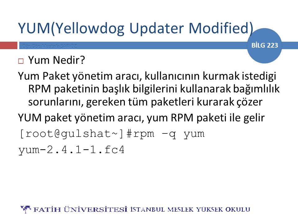 YUM(Yellowdog Updater Modified)