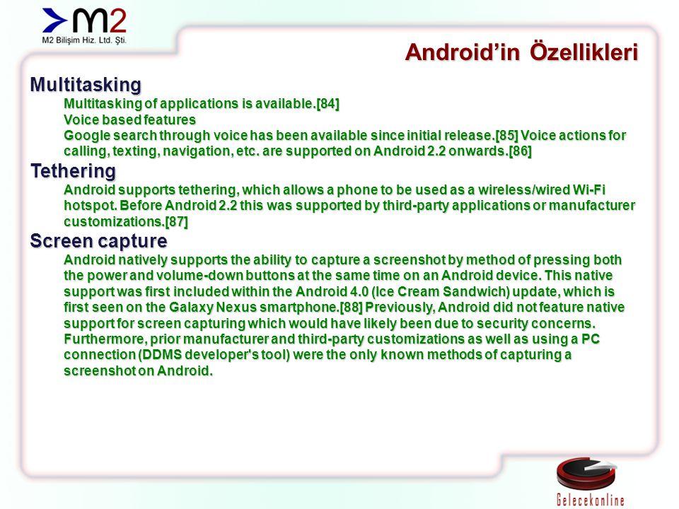 Android'in Özellikleri