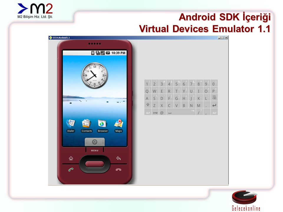 Android SDK İçeriği Virtual Devices Emulator 1.1