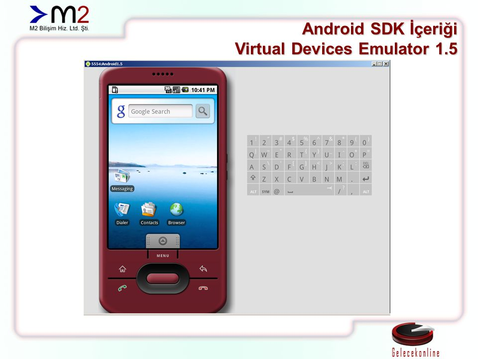 Android SDK İçeriği Virtual Devices Emulator 1.5