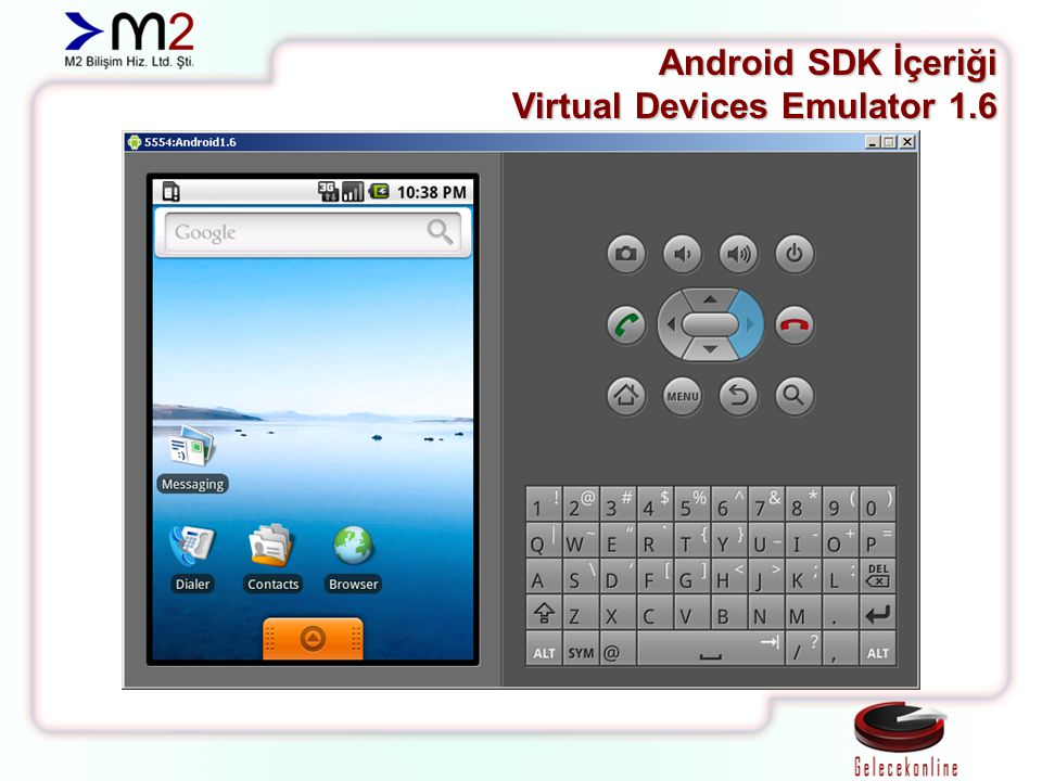 Android SDK İçeriği Virtual Devices Emulator 1.6
