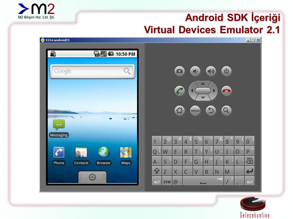 Android SDK İçeriği Virtual Devices Emulator 2.1