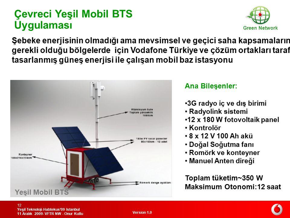 Çevreci Yeşil Mobil BTS Uygulaması