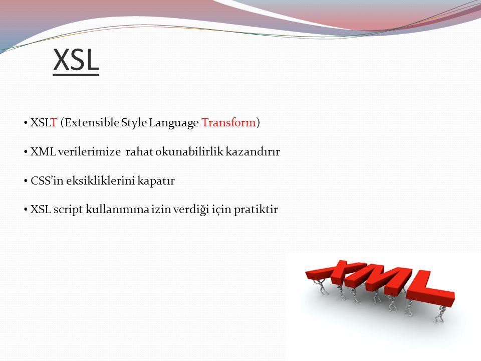 XSL XSLT (Extensible Style Language Transform)