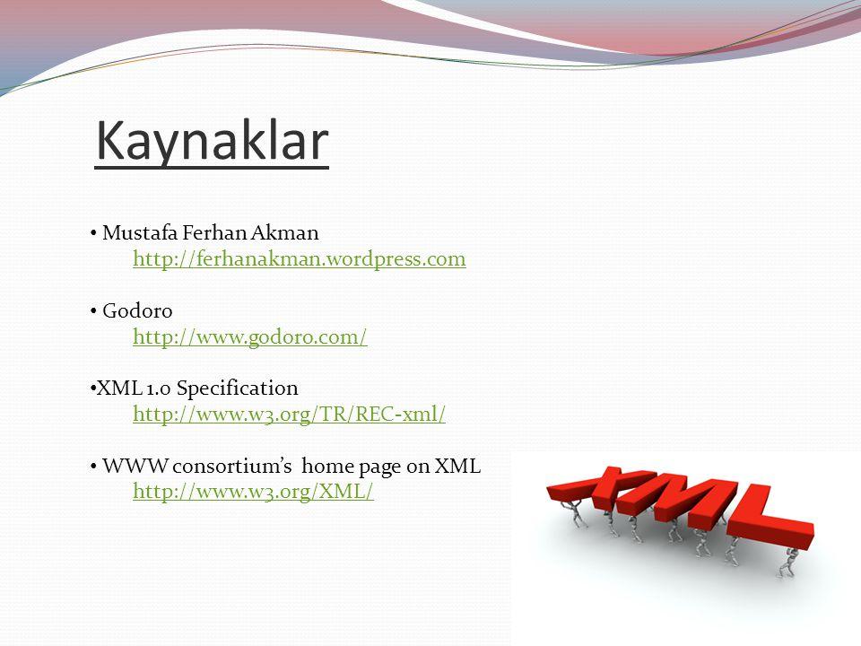 Kaynaklar Mustafa Ferhan Akman http://ferhanakman.wordpress.com Godoro