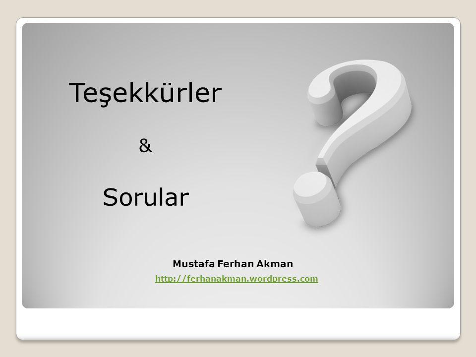 Teşekkürler Sorular & Mustafa Ferhan Akman