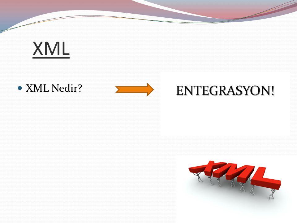 XML ENTEGRASYON! XML Nedir